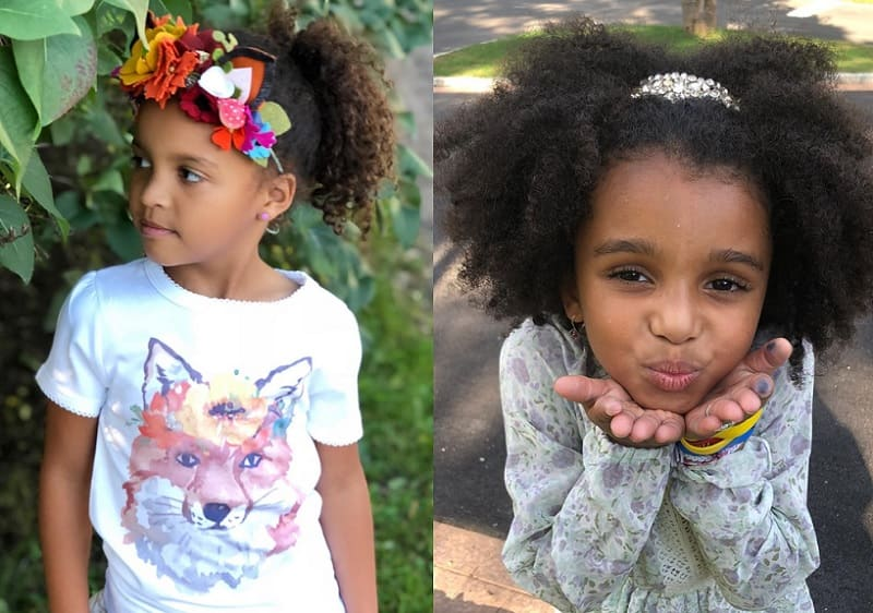 ponytail hairstyles for mixed little girl