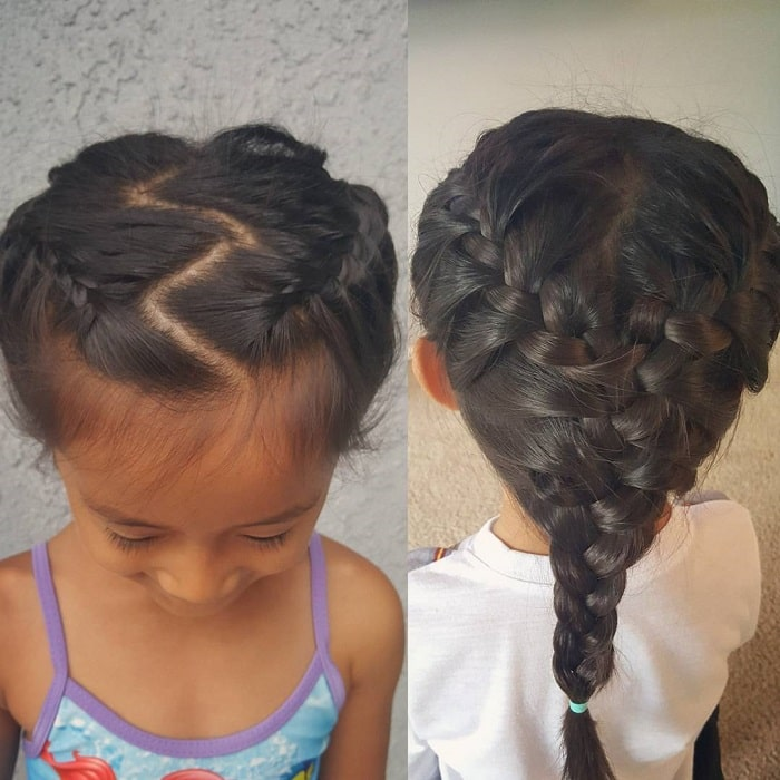 little black girls french braid for school