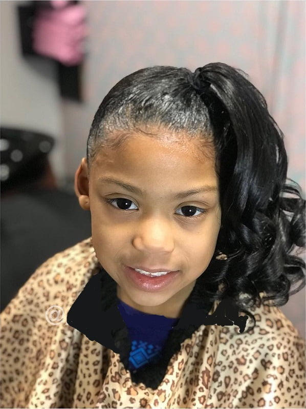 side ponytail school hair for little black girls