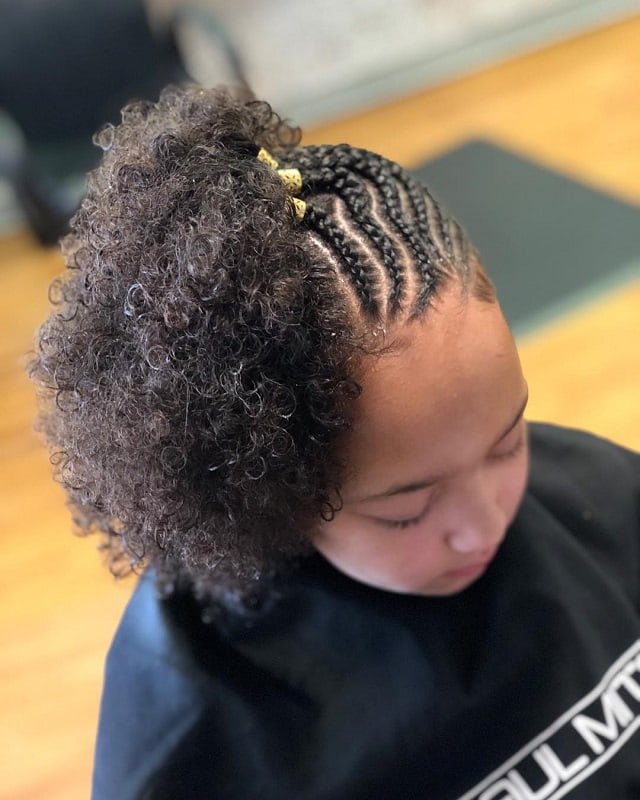 cornrow for little girl curly hair