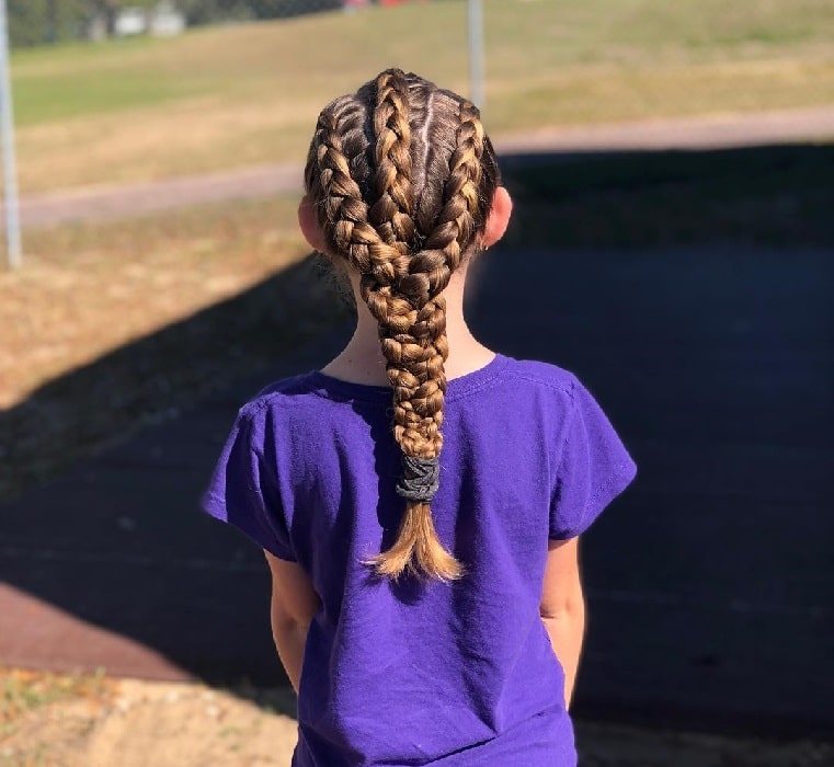 braids with weave for little girls