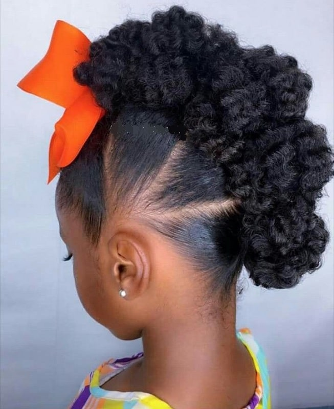 afro faux hawk with weave