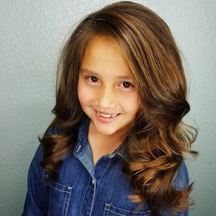 wavy layer haircuts for little girls