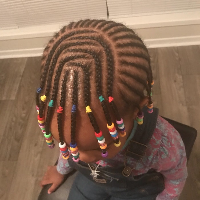 cornrow with beads for little girls