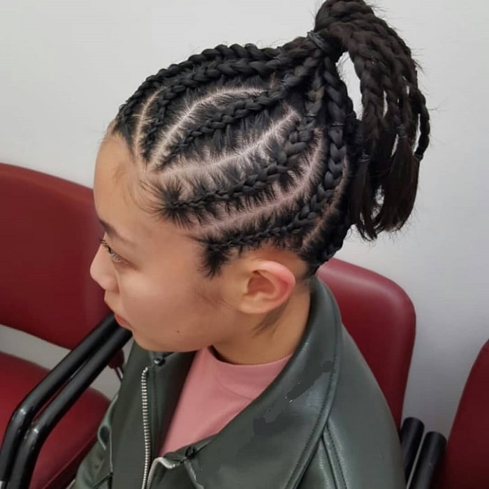 cornrow braid for girls with medium hair