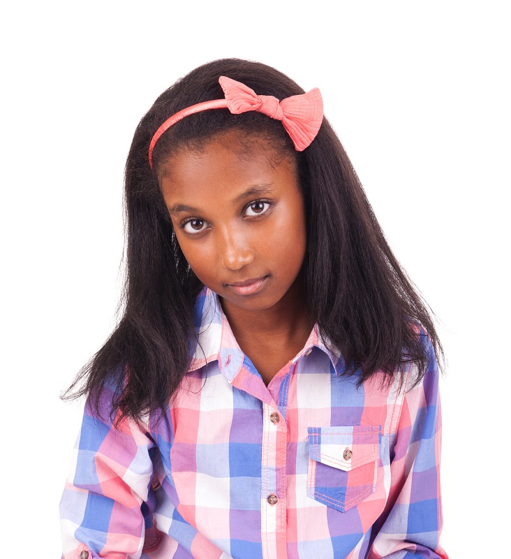 10 year old black girl with straight hair