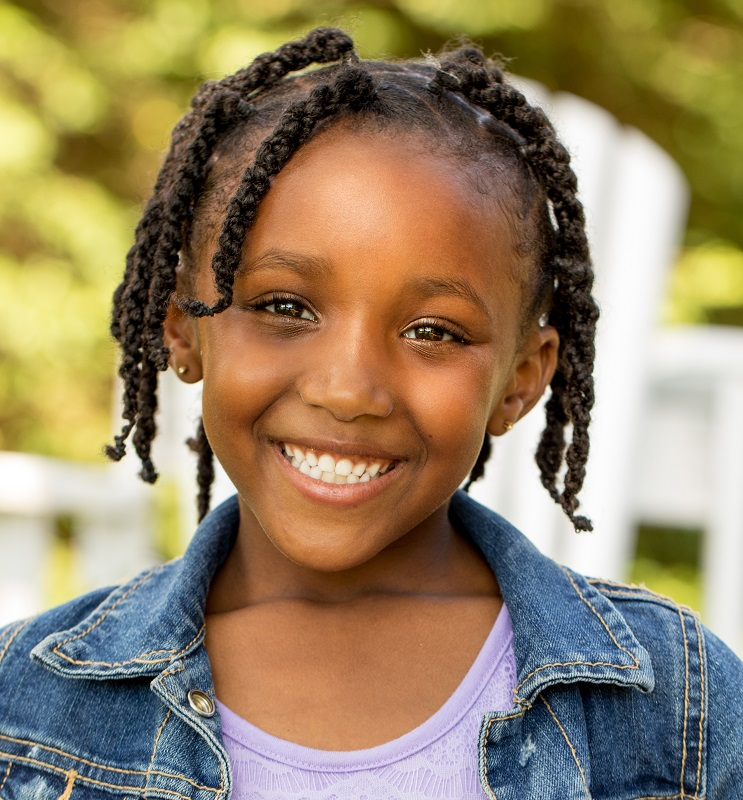 10 year old black girl's hairstyle