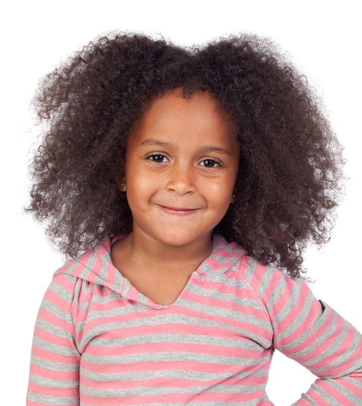 layered afro hairstyle for little girls