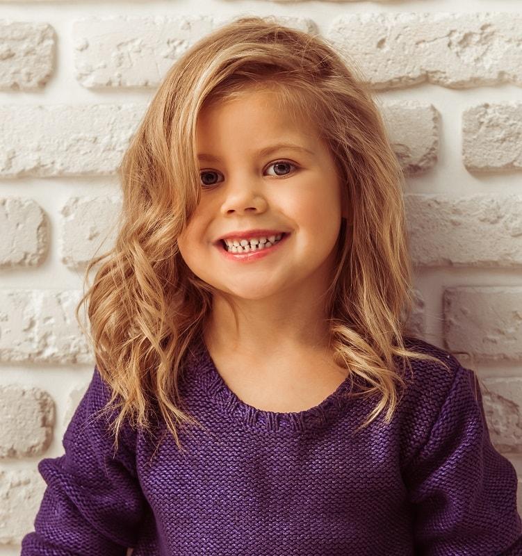 medium layered haircut for little girls