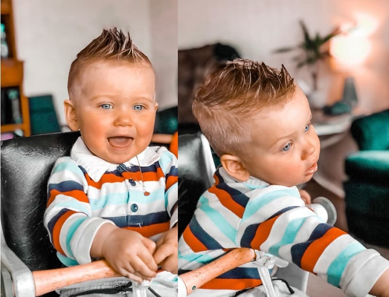 mohawk for 1 year old baby boy