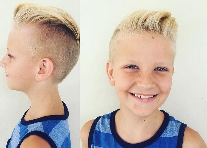 6 year old boy with blonde quiff