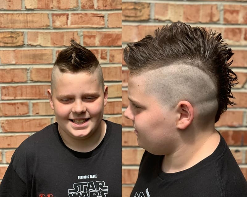 spiky mohawk for 8 year old boy