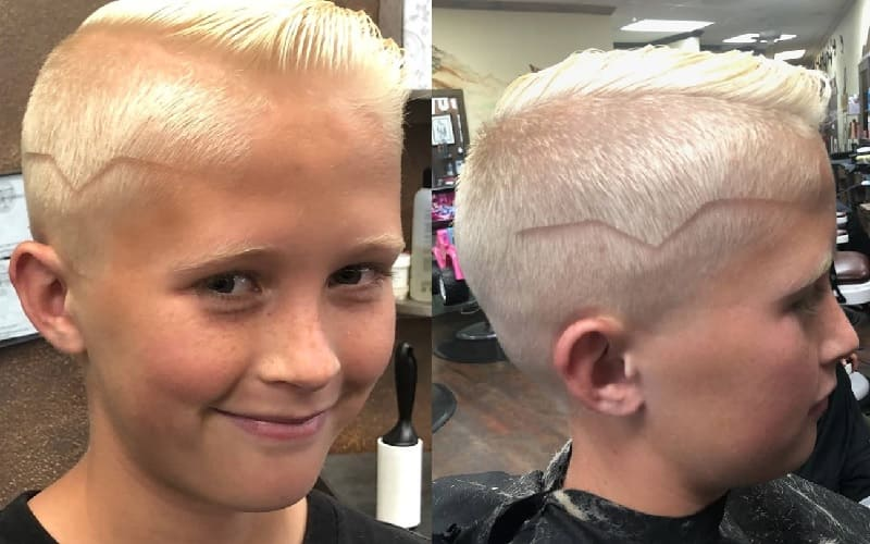 8 year old boy haircut with design