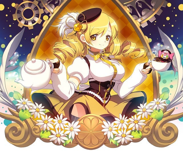 anime girl Mami Tomoe with curly hair