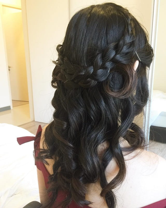 Asian girl curly hairstyles