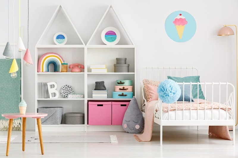 baby boy room with small space