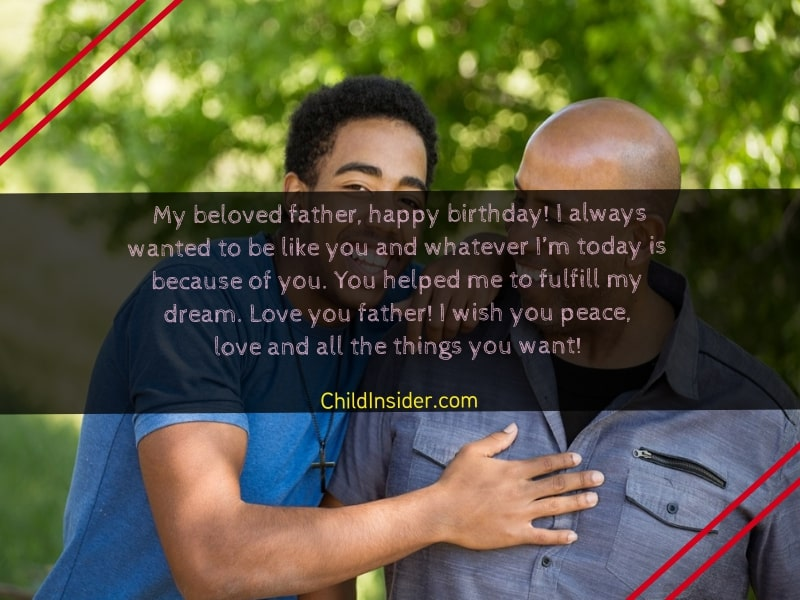 birthday messages for father