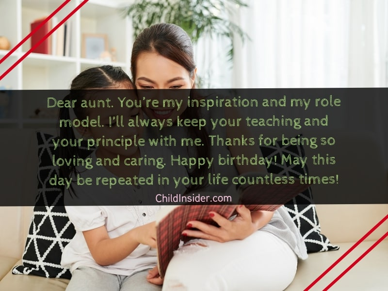 birthday quotes for aunt from niece