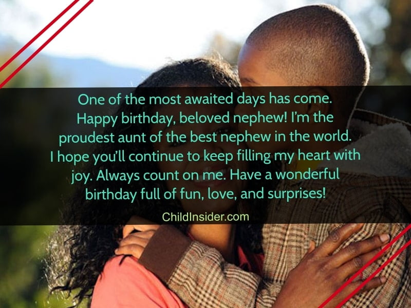birthday quotes for nephew from aunt
