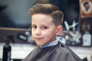 boy's comb over hair