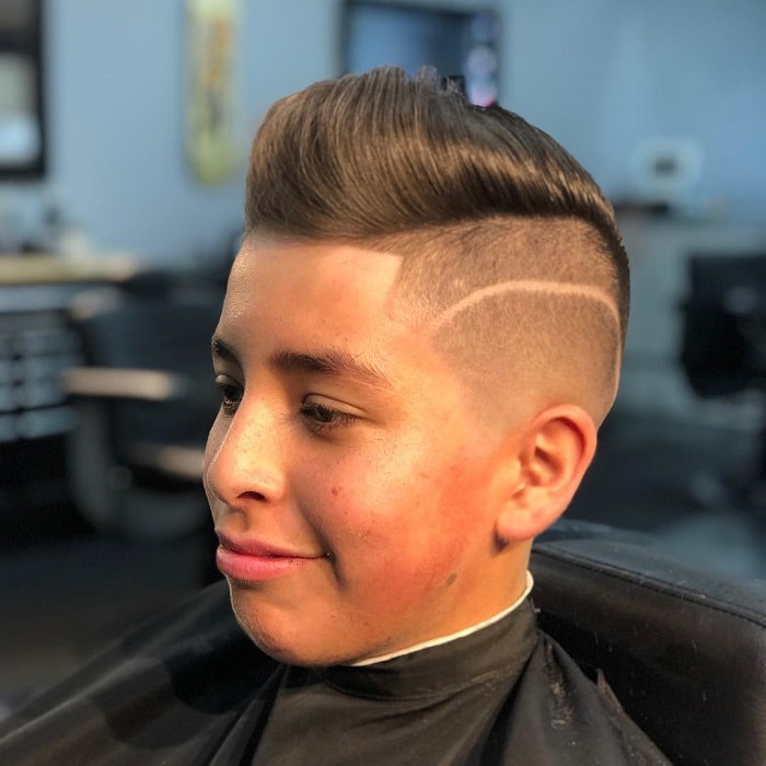 comb over pompadour hair for boys