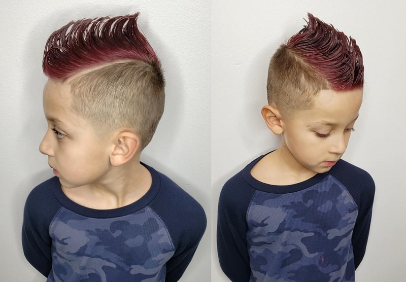 spiked mohawk with undercut for boys