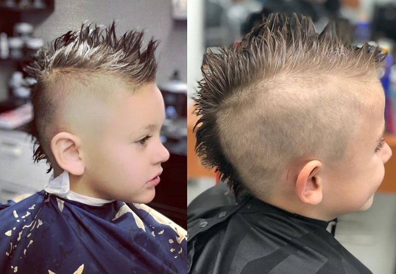 short hair mohawk for boys