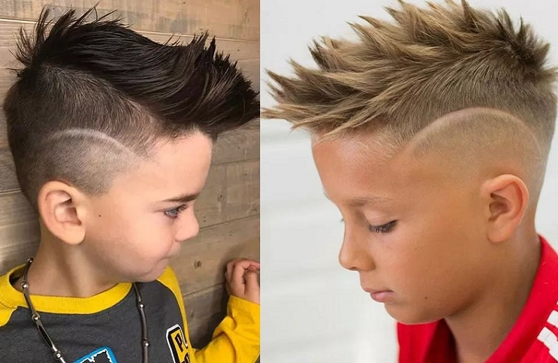 boy's undercut with design