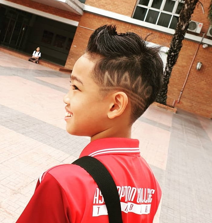 boy's undercut with faux hawk