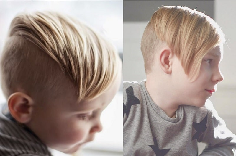 boy's undercut with long bangs
