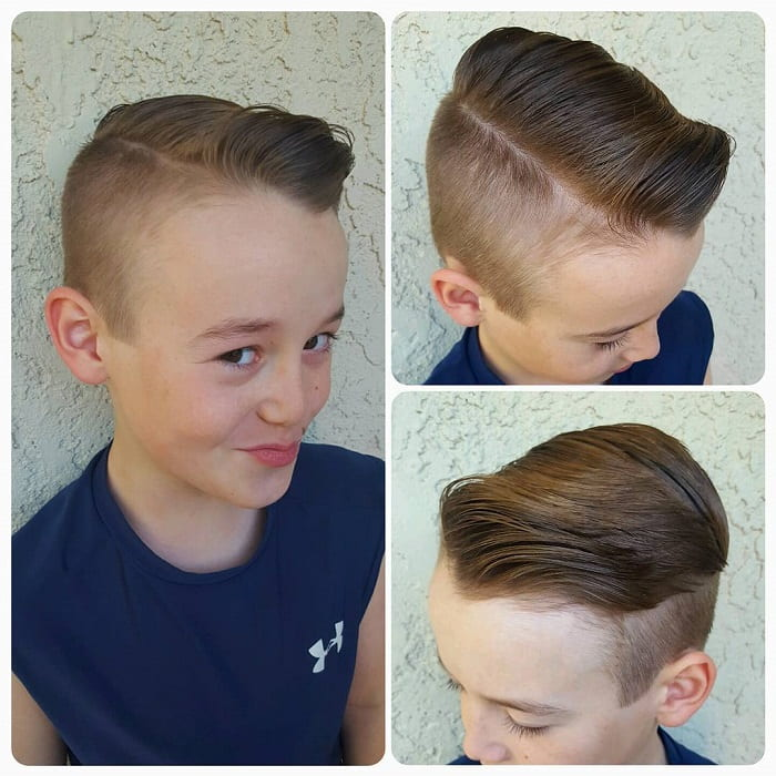 boy's undercut with comb over