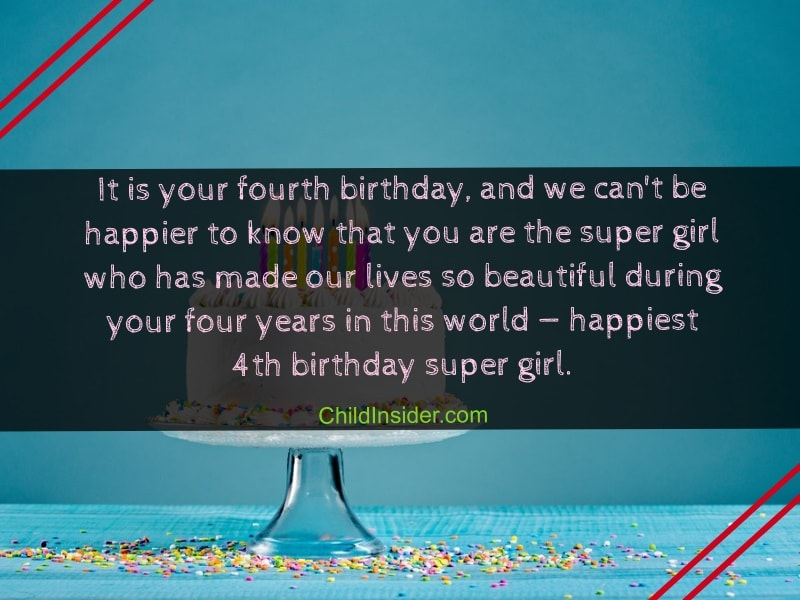 birthday quotes for 4 years old girl
