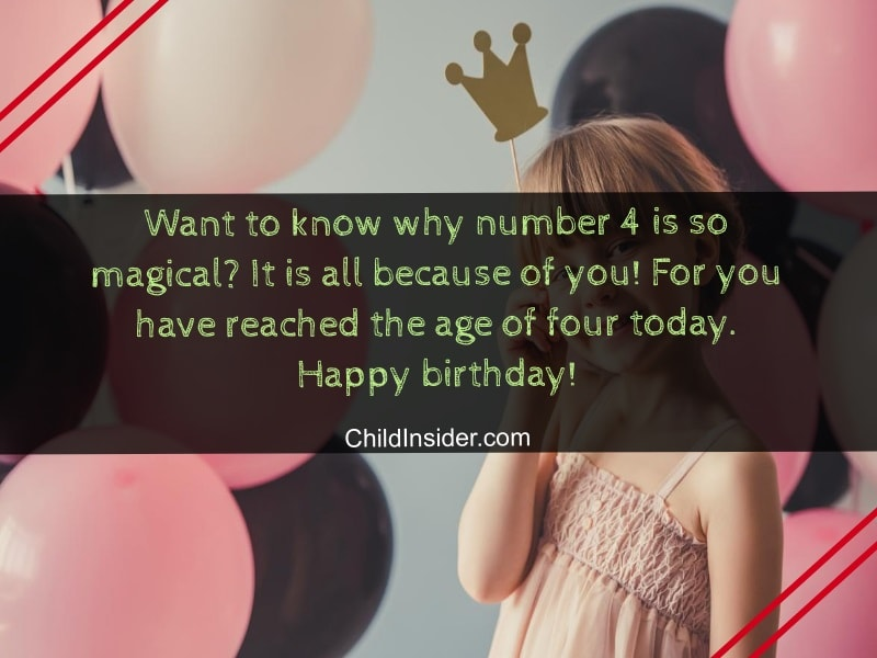 happy 4th birthday girl