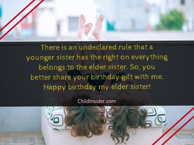 funny birthday wishes for big sister