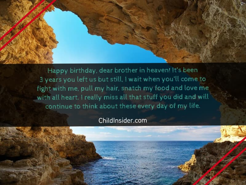 birthday quotes for brother in heaven