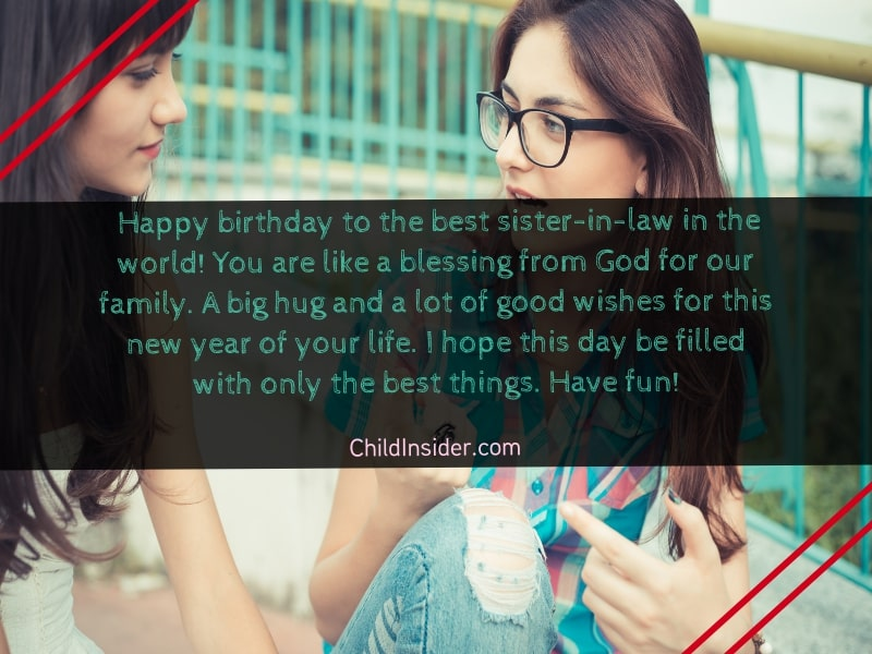 birthday greetings for sister in law