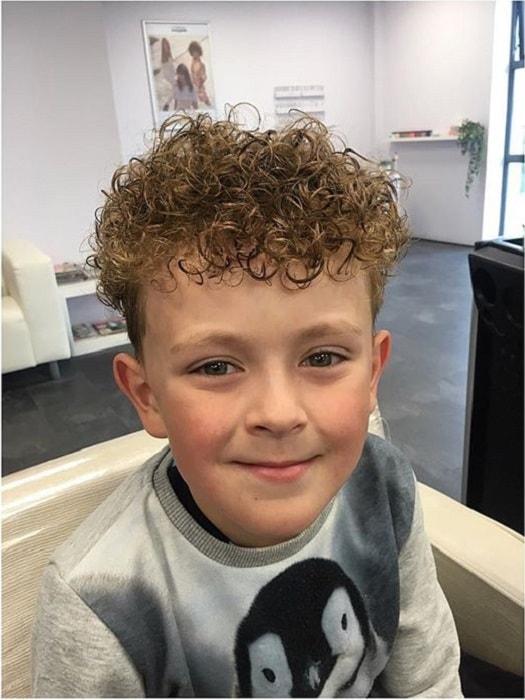 little boy curly undercut hair