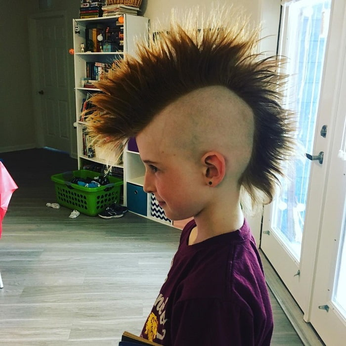 long mohawk haircuts for little boy