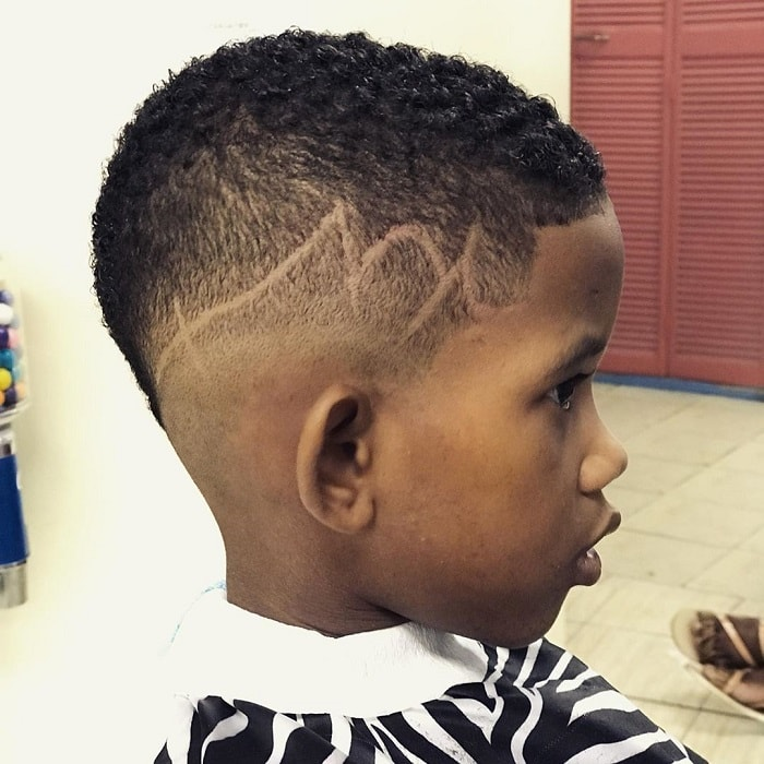 little boy with mohawk fade haircuts