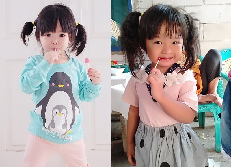 Pigtails with Bangs for Little Girls