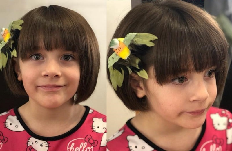 little girl bob with bangs