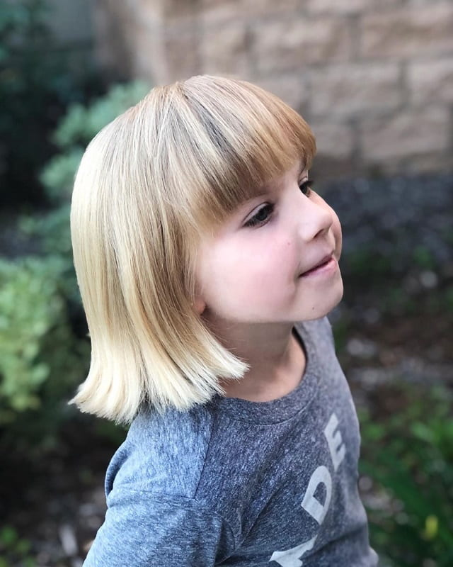 little girl haircut with thick bangs