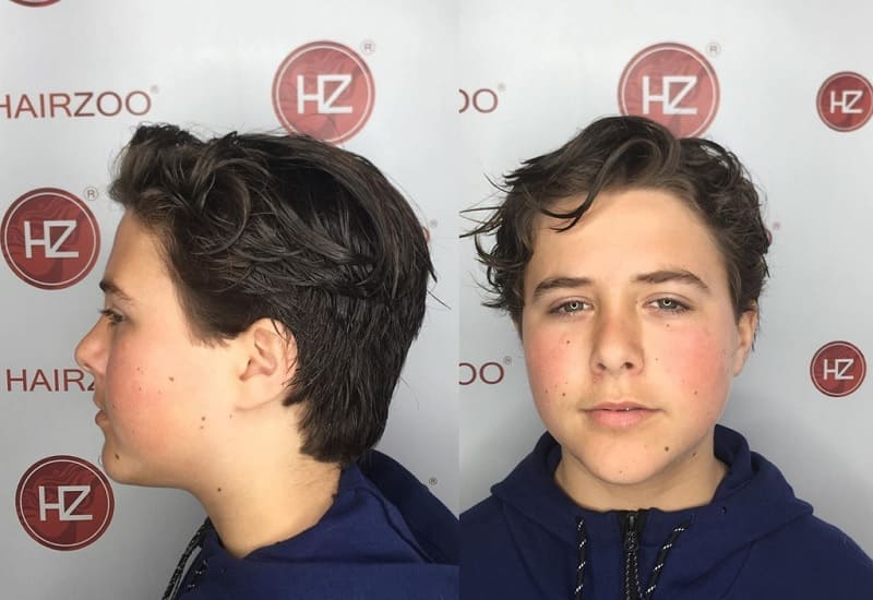 messy long hairstyle for teen boys