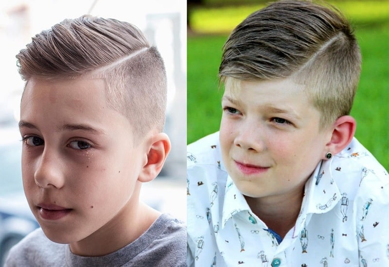 hard part hairstyle for tween boys