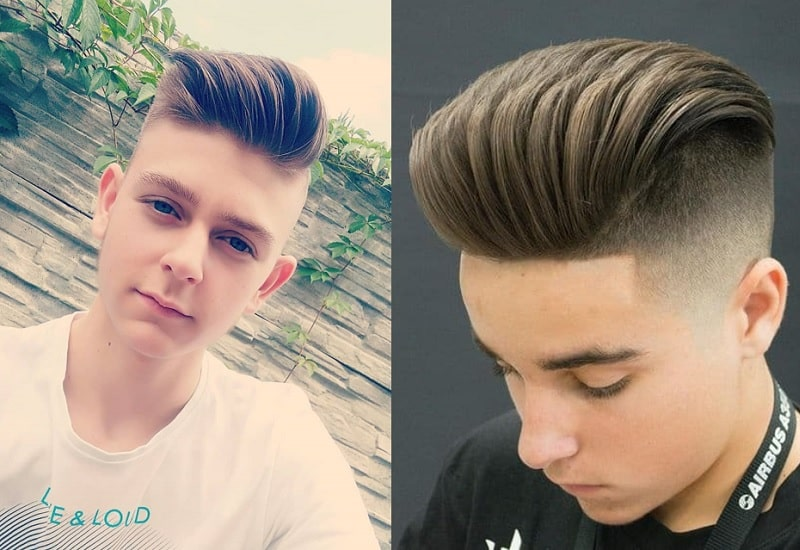 pompadour for white boys