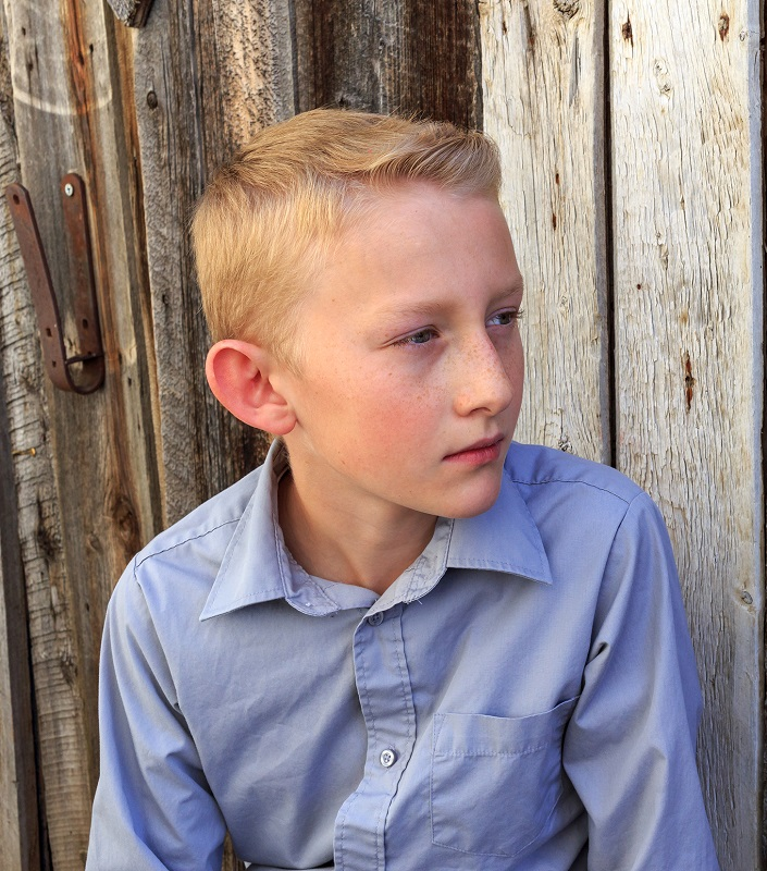8 year old boy's blonde hair