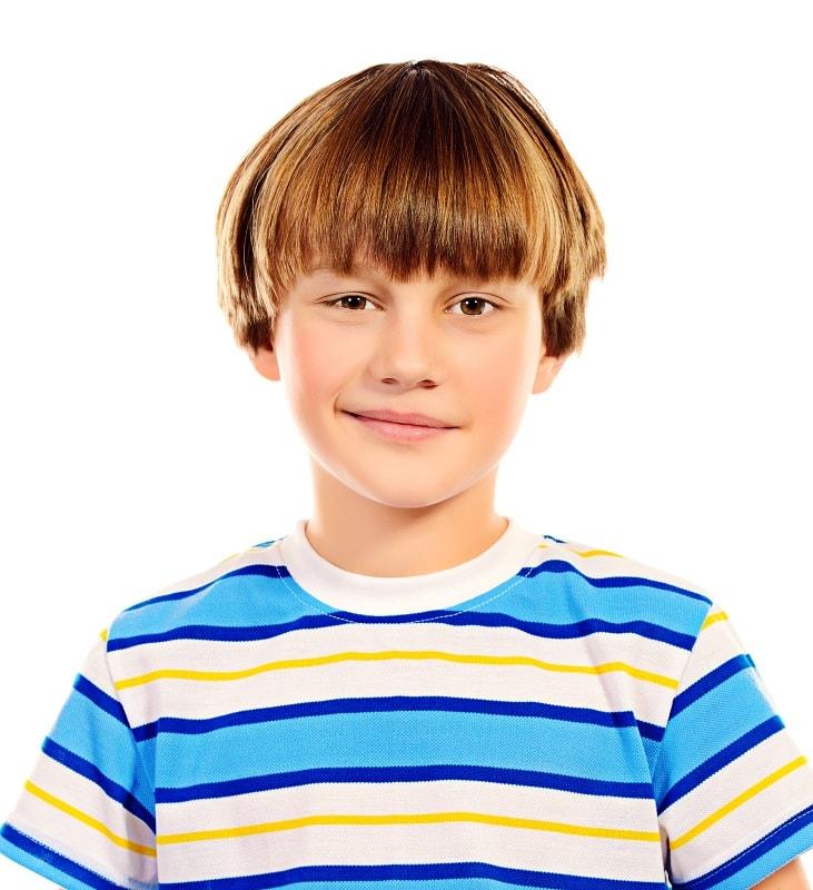 8 year old boy's bowl haircut