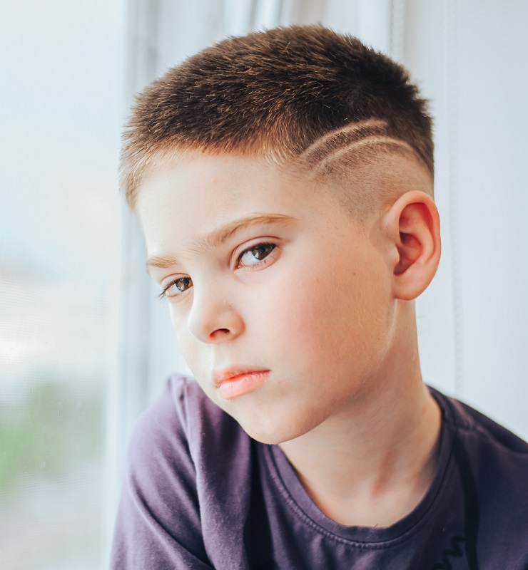8 year old boy's haircut with design