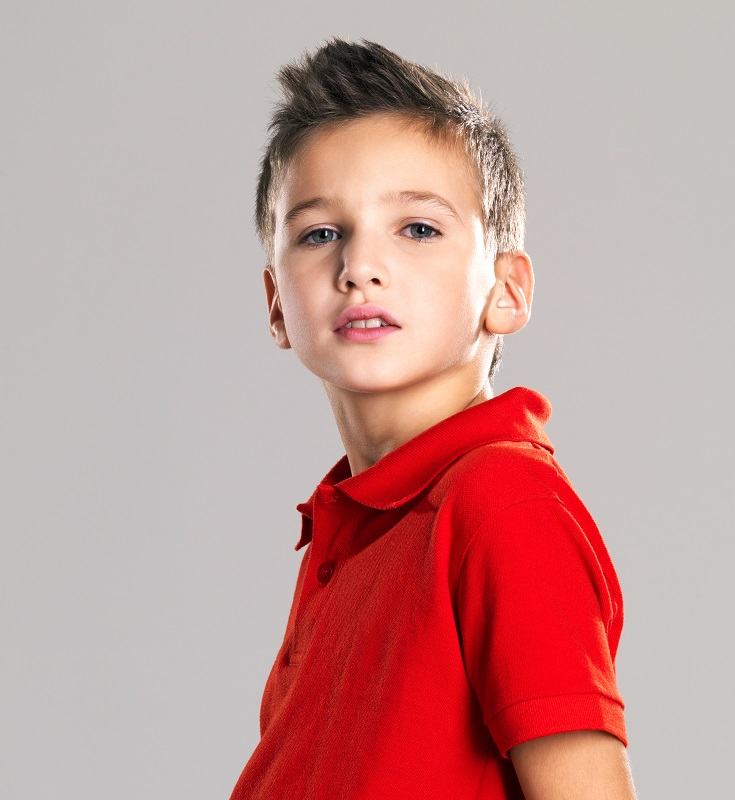 8 year old boy's quiff hairstyle