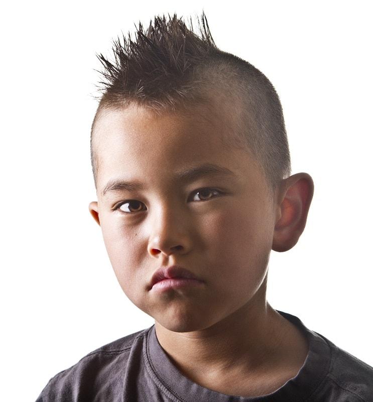Asian kids mohawk